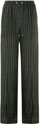 Jonathan Simkhai Chain Print Palazzo Trousers