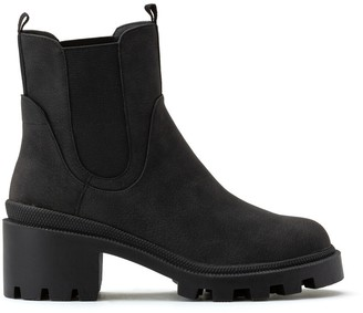 La Redoute Collections Chunky Chelsea Ankle Boots with Block Heel