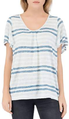 Bobeau B Collection by Emile Striped Scoop-Neck Tee