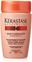 Kérastase Discipline Bain Fluidealiste Smooth-in-Motion Shampoo for Unisex, 2.71 Ounce