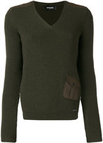 DSQUARED2 open back ribbed knit - women - Wool/Cotton/Spandex/Elastane - S