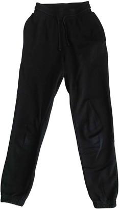 Base Range Black Cotton Trousers for Women