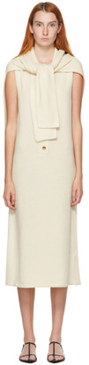 Kim Matin White Cashmere Scarf Tank Dress