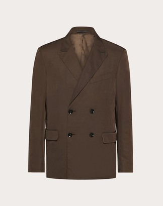 Valentino Double-breasted Jacket Man Brown Polyester 100% 44
