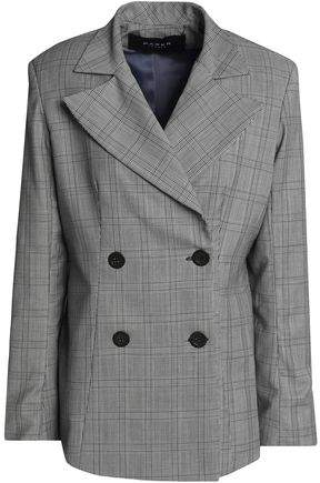 Paper London Double-Breasted Prince Of Wales Checked Wool-Blend Blazer