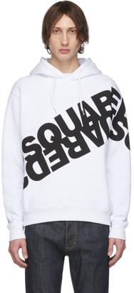 DSQUARED2 White Logo Hoodie