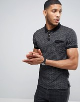 Bellfield Polo Shirt In All Over Print