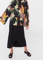 MANGO Kimono Flower Blouse