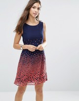 Yumi Skater Dress In Romantic Print