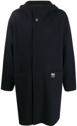 Emporio Armani Hooded Wool Coat