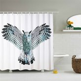 creative Shower Curtain Owl Open Her Wings Shower Curtain Polyester Fabric Mildew Proof 69x 84 Shower Room Decor