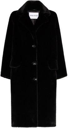 Stand Studio Theresa faux fur single-breasted coat