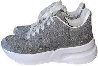 Alexander McQueen Grey Glitter Trainers