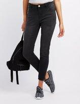 Charlotte Russe Refuge Zipper-Trim Skinny Jeans