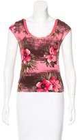 Blumarine Tropical Printed Knit Top
