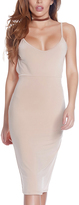 Forplay Nude Low-Back Bodycon Dress