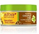 Alba Hawaiian, Coconut Milk Body Cream, 6.5 Ounce