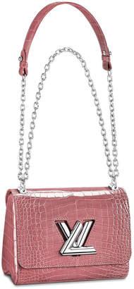 Louis Vuitton Twist Crocodile Brillant Silver-tone PM Rose Tourmaline