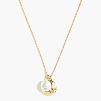 J.Crew Pearl charm pendant necklace