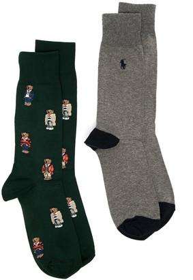 Polo Ralph Lauren Teddy Bear Pattern Socks (Set Of Two)