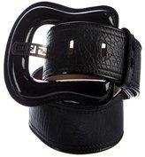 Fendi Oversize Leather Waist Belt