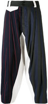 Vivienne Westwood patchwork cropped trousers - men - Cotton/Virgin Wool - 46