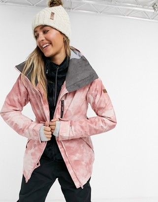 Roxy Prescense ski jacket in pink