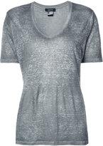 Avant Toi V-neck T-shirt - women - Linen/Flax - S