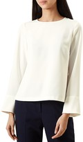 Hobbs London Leanne Flared-Sleeve Top