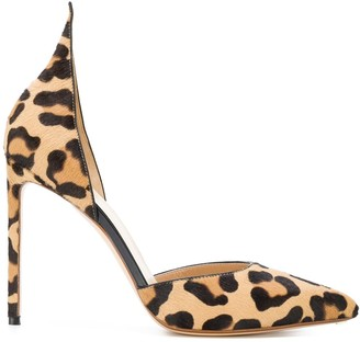 Francesco Russo Leopard Print Pumps