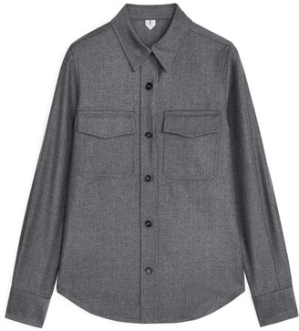 Arket Wool Flannel Shirt