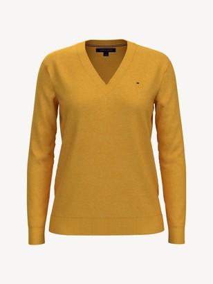Tommy Hilfiger Essential Solid V-Neck Sweater