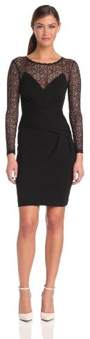 French Connection Women's Vienna Lace Jersey Dress