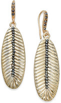 INC International Concepts Gold-Tone Pavé Leaf Drop Earrings, Only at Macy's