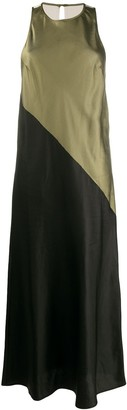 8pm Sleeveless Two-Tone Maxi Dress