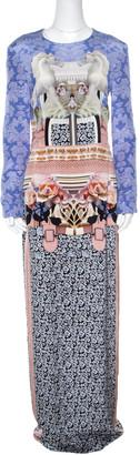 Mary Katrantzou Multicolor Horse Print Silk Heavy Crepe Powdy Dress M