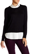 Susina Shirted Pullover Sweater (Petite)