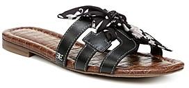 Sam Edelman Women's Bay 12 Floral Print Bow Slide Sandals