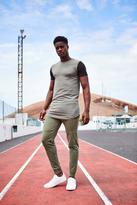 Longline Muscle Fit T Shirt With MAN Logo