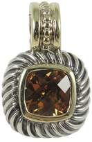 David Yurman Sterling Silver and 14K Yellow Gold Citrine Small Square Enhancer