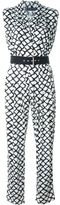 Ungaro printed V-neck jumpsuit - women - Spandex/Elastane/Rayon - 48