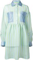 Natasha Zinko striped flared shirt dress - women - Polyester/Polyamide - 34