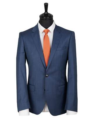 HUGO Henry 182 Pin Dot Slim Fit Suit Jacket Colour: BLUE, Size: 40