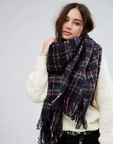 Superdry Blue Check Scarf