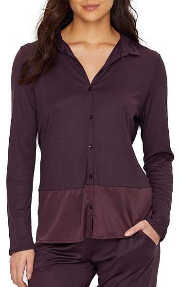 Hanro Grand Central Knit Silk Pajama Top