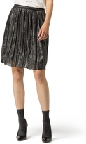 Tommy Hilfiger Pleated Gunmetal Skirt
