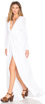 Mara Hoffman Embroidered Deep V Neck Gown