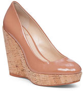 Vince Camuto Faran Patent Leather Cork Wedge Pumps