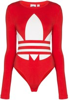 adidas logo-print bodysuit