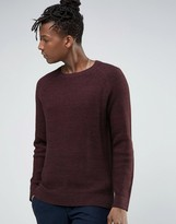 Selected Crew Neck Waffle Knit with Raglan Sleeve